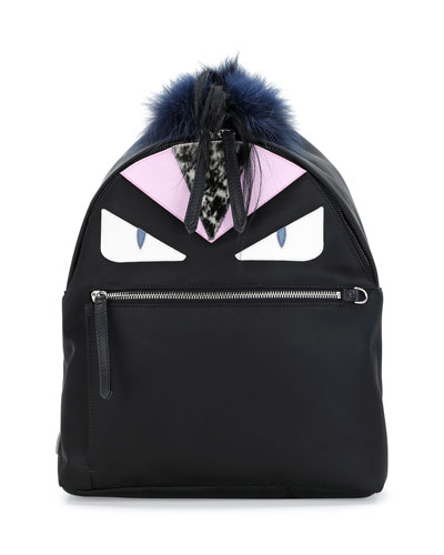 Monster Fur Backpack, Black Multi