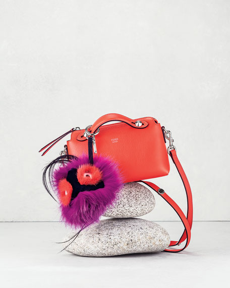 Fendi Monster Fur Charm for Handbag, Pink Multi