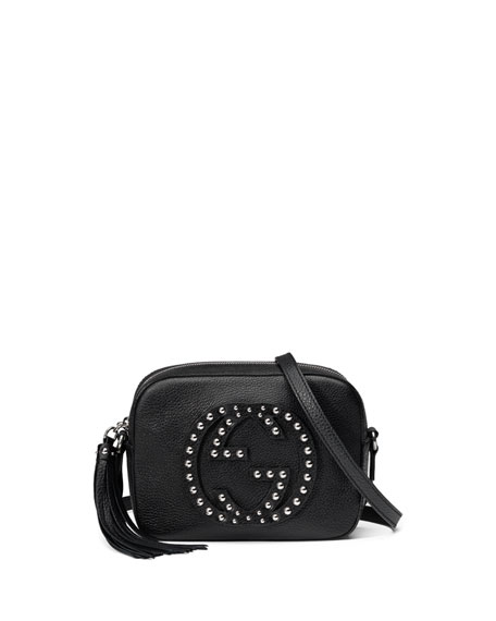 Gucci Soho Studded Leather Disco Bag, Black