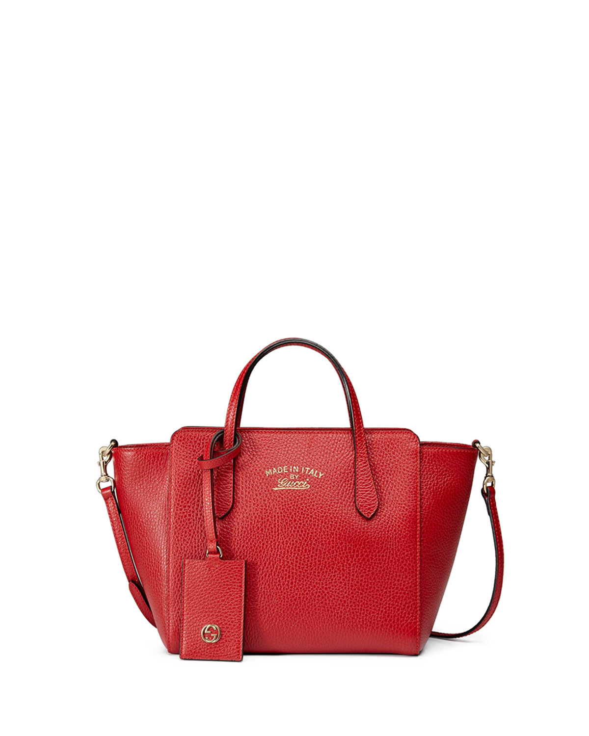 81e7bca42957 Gucci Swing Mini Crossbody Tote Bag, Red | Neiman Marcus