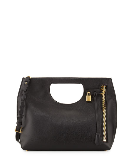 TOM FORD Alix Medium Shopper Tote Bag, Black