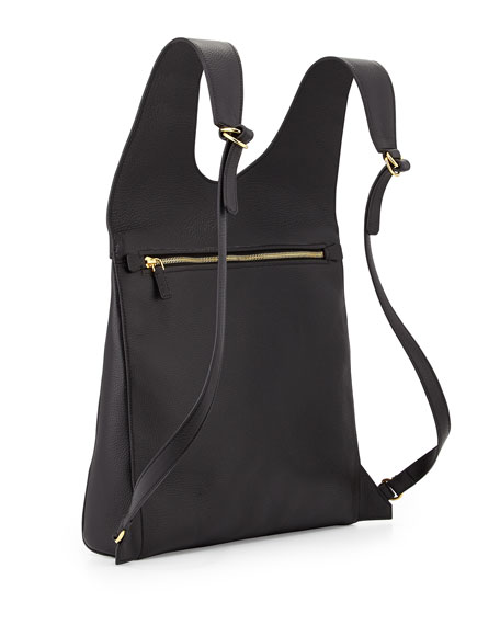 TOM FORD Alix Calfskin Small Backpack, Black