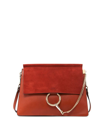 Faye Medium Shoulder Bag, Red
