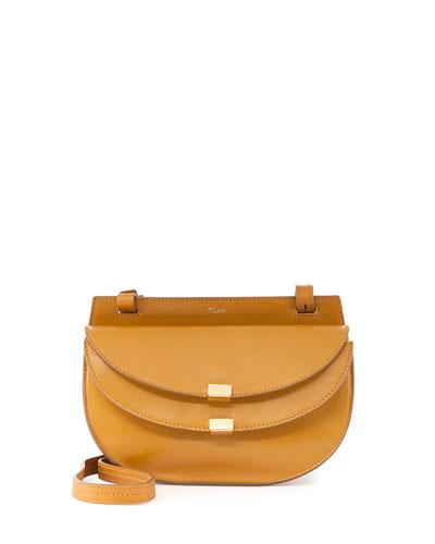 Georgia Mini Leather Crossbody Bag, Tan