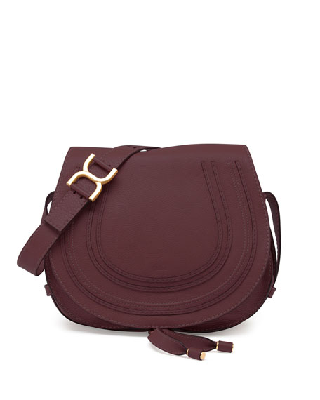 chloe marcie medium leather crossbody bag bordeaux. Black Bedroom Furniture Sets. Home Design Ideas