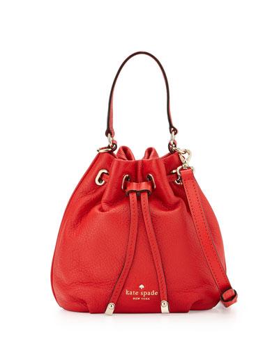cobble hill wyatt mini bucket bag, cherry liqueur