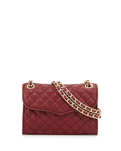 Mini Affair Quilted Crossbody Bag, Merlot