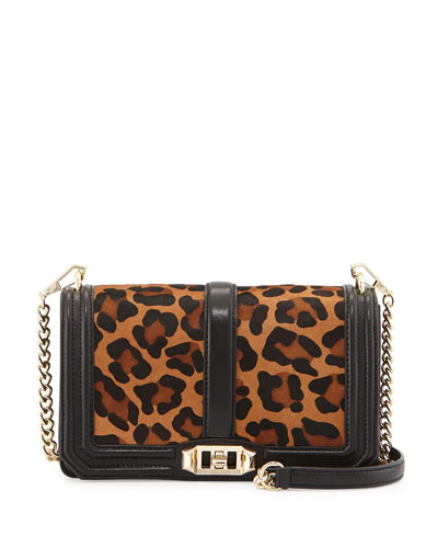 Love Animal-Print Calf Hair Crossbody Bag