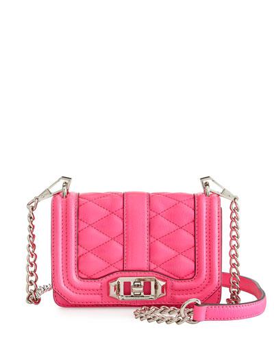 Mini-Love Crossbody Bag, Electric Pink