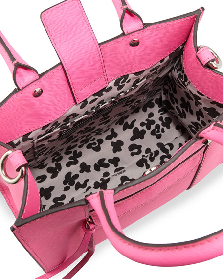 MAB Saffiano Mini Tote Bag, Electric Pink