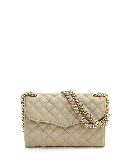 Mini-Affair Quilted Leather Bag, Khaki