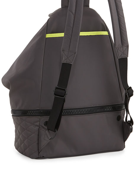 Rebecca Minkoff Julian Quilted Sport Backpack, Gray/Black