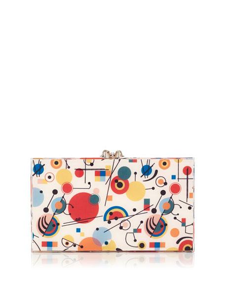Kandinsky Printed Pandora Clutch Bag