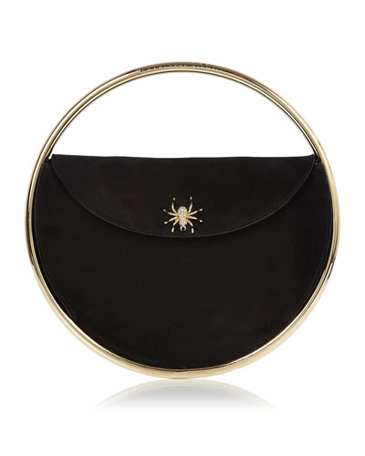 This Is Not A Bag Suede Clutch Bag, Black