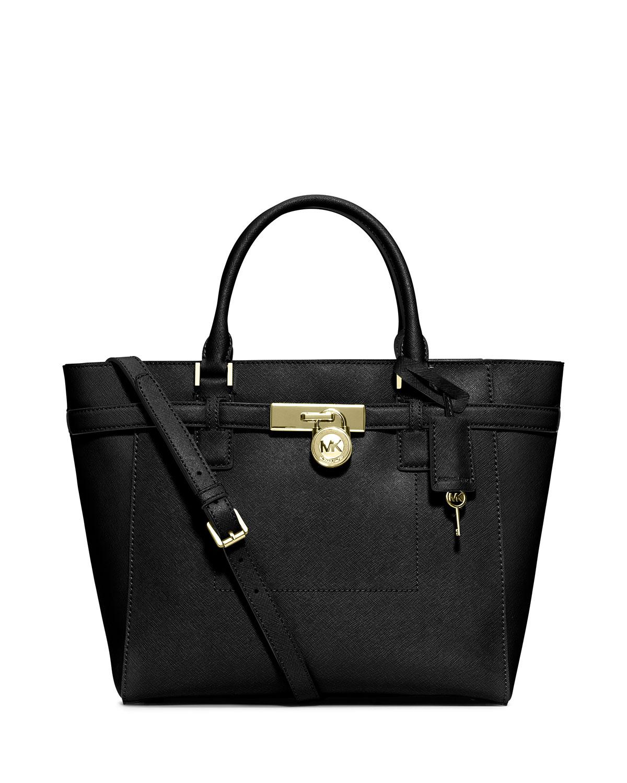 39e14ee246e8 MICHAEL Michael Kors Hamilton Large Saffiano Tote Bag, Black ...