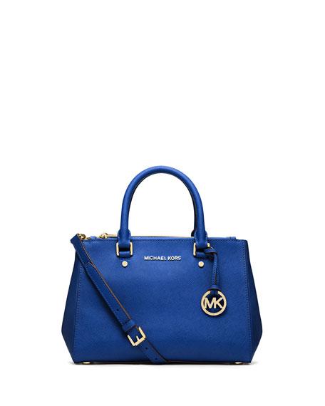 Michael Kors Sutton Small Saffiano Satchel Bag Electric Blue Neiman Marcus