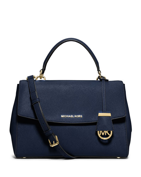MICHAEL Michael Kors Ava Medium Saffiano Satchel Bag,
