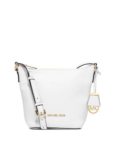 Bedford Small Messenger Bag, Optic White
