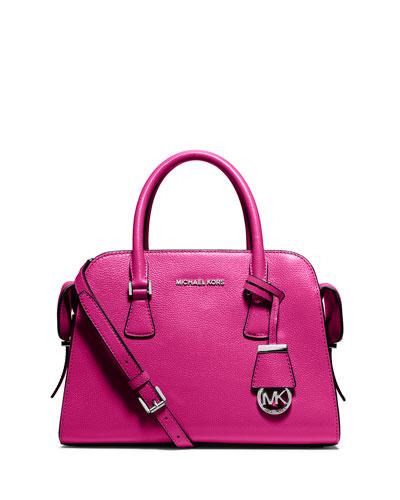 Harper Medium Satchel Bag, Raspberry