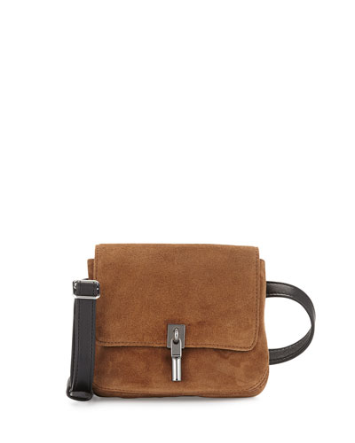 Cynnie Suede Belt Bag, Coco