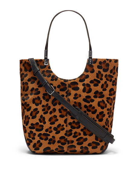 Elizabeth and James Cynnie Animal-Print Calf Hair Shopper