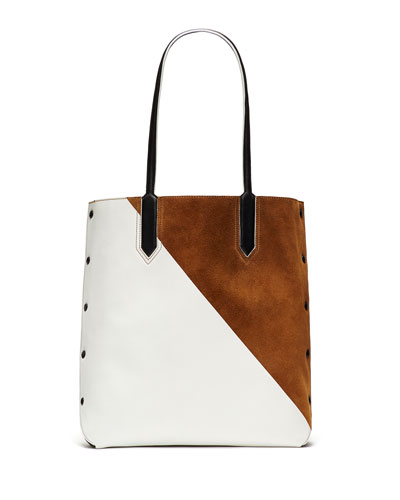 Scott Two-Tone Tote Bag, Coco