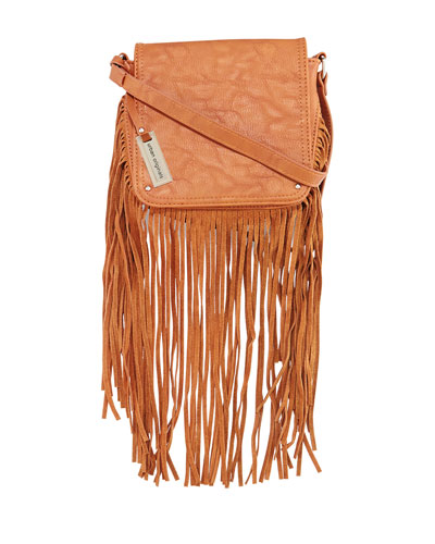 Free Spirit Fringe Crossbody Bag, Tan