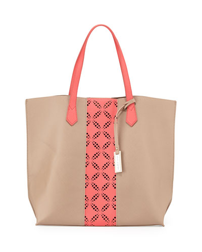 Take The Leap Tote Bag, Camel/Coral