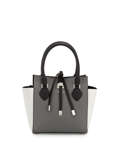 Miranda Extra-Small Colorblock Tote Bag, Slate