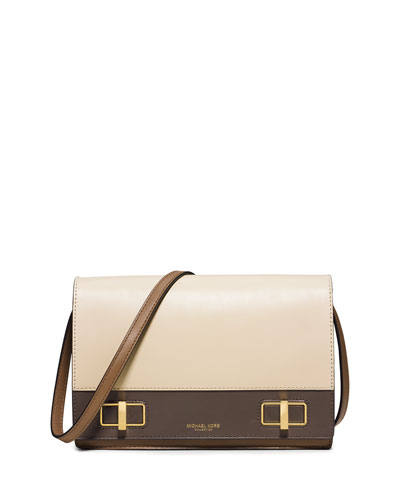 Bette Medium Colorblock Shoulder Bag, Vanilla