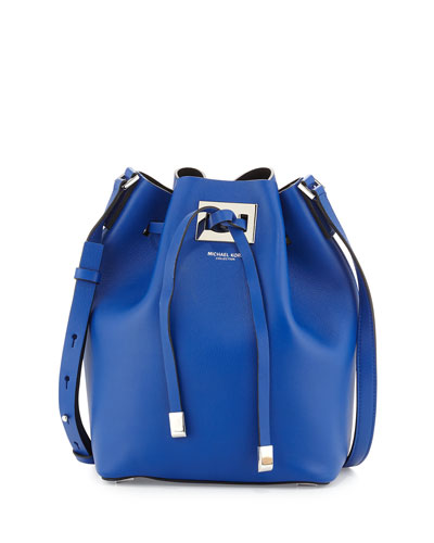 Miranda Medium Drawstring Messenger Bag, Cobalt