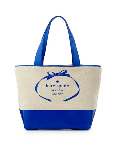 heritage spade logo summer tote bag, natural/island