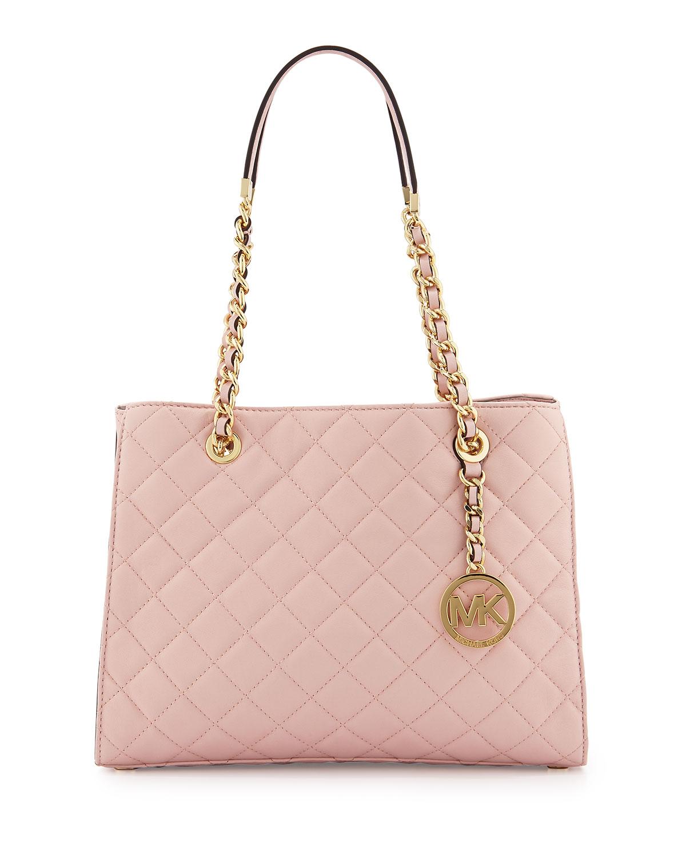 6361678c51d7 MICHAEL Michael Kors Susannah Medium Quilted Tote Bag, Blossom ...