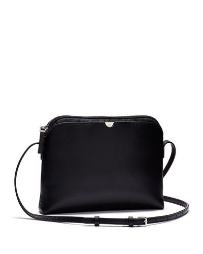 Multi-Pouch Calfskin Crossbody Bag, Black/Navy
