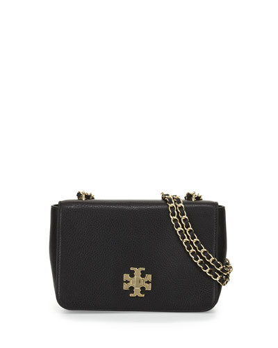 Mercer Pebbled Leather Shoulder Bag, Black