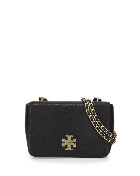 Tory Burch Mercer Pebbled Leather Shoulder Bag, Black