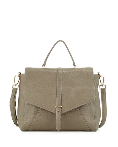 797 Pebbled Leather Satchel Bag, Porcini