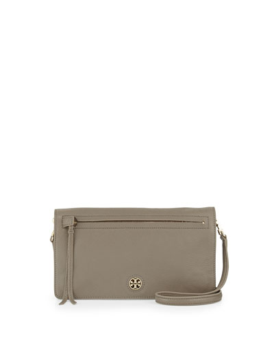 Brody Leather Clutch Bag, Porcini