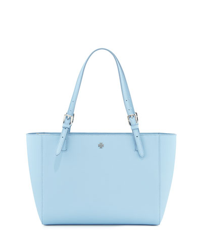 York Saffiano Leather Tote Bag, Fairview Blue