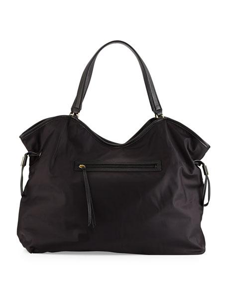 Tory Burch Slouchy Nylon Tote Bag, Black
