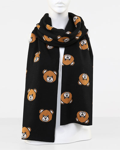Teddy Bear Knit Scarf