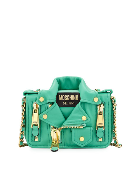MoschinoMoto Jacket Shoulder Bag, Green