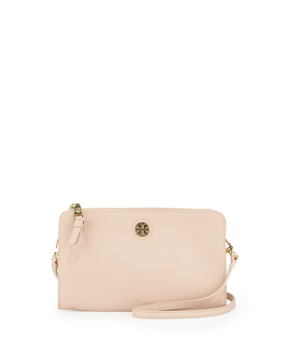 Robinson Pebbled Wallet Crossbody Bag, Light Oak