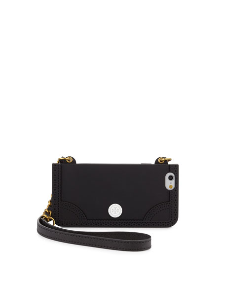 Tory Burch Patchwork Mini Bag Phone Case, Black