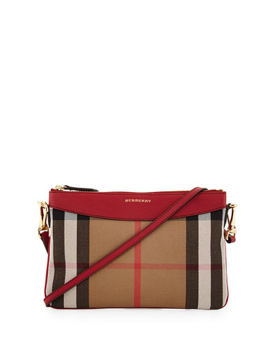 Peyton House Check Crossbody Bag, Tan