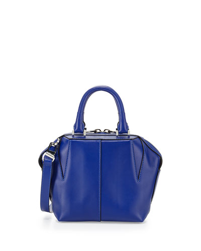 Prisma Structured Leather Satchel Bag, Vein
