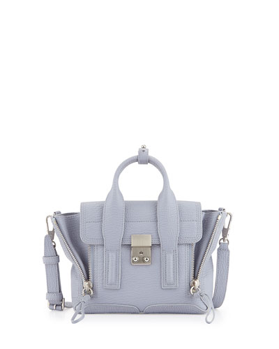 Pashli Mini Leather Satchel Bag, Lilac