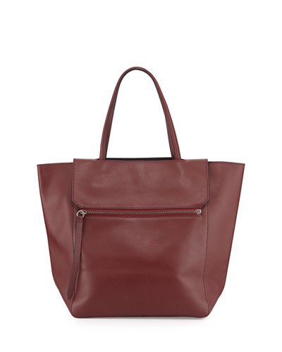 Nova Leather Tote Bag, Burgundy