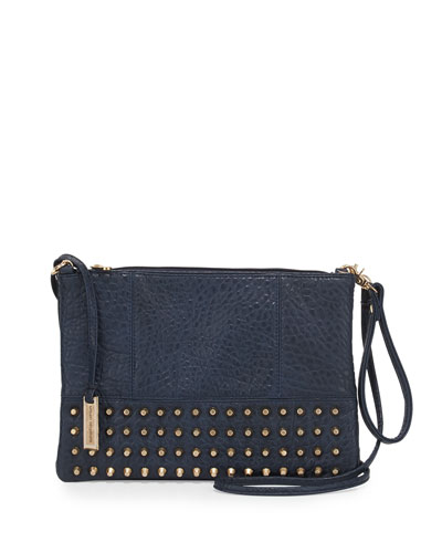 Eve Studded Crossbody Bag, Navy