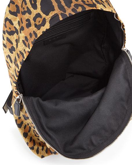 Antigona Nylon Backpack, Leopard Print